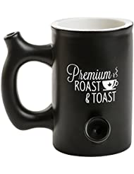 Premium Roast and Toast Mug Black Ceramic Coffee Mug Multipurpose Novelty Mug