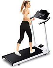 Opvouwbare loopband voor thuis Elektrische loopband, Woodtree Running Machine,draagbare hellingsloopband met LED-monitor, fitnessapparatuur voor thuiskantoor Gym