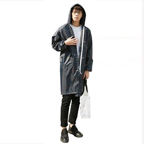 YUDILI YY Raincoat adult hiking Korean fashion men's and women's raincoat long coat long outdoor travel raincoat yuyiting (Color : H, Size : M)