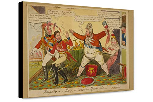 ClassicPix Canvas Print 12x18: Royalty in A Rage Or Family Quarrels, 1820