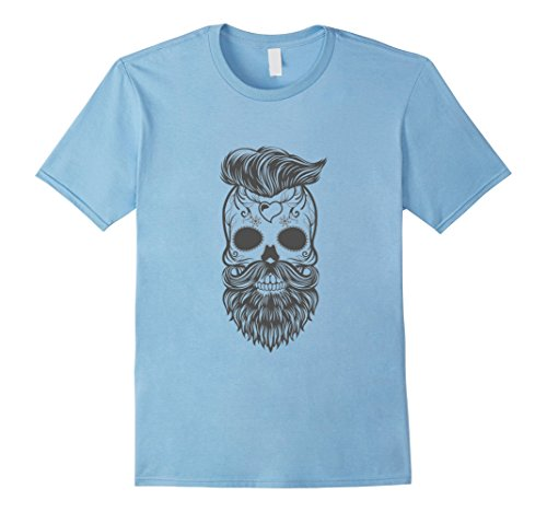 [Mens Bearded Mexican Skull Halloween Costume Shirts for Men Women 2XL Baby Blue] (Bearded Halloween Costumes Men)