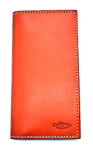 Handmade By Amish Leather Bi-fold Roper Wallet Simple Style W929 (Tan) (Simple Checkbook Cover)