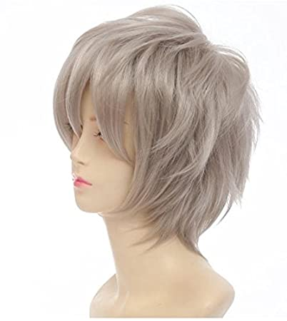 Amazon.com : Haikyu!! Haikyuu!! Karasuno Cosplay Wig Sugawara koushi Mens Short Wig (Gray) : Beauty