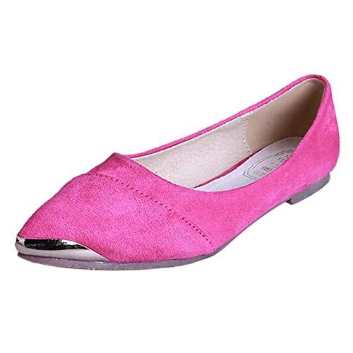 À Taille Fuxitoggo Paillettes Plates Ballerines Uk 3 Femmes Rose coloré Boutonnées Pour Et Uqq5wvxO