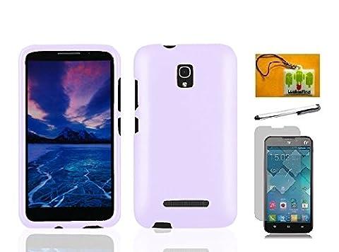 Alcatel One Touch Pop Mega LTE A995G / A995L, LF 4 in 1 Bundle, Hard Case Cover, Stylus Pen, Screen Protector & Wiper For Alcatel One Touch Pop Mega LTE A995G / A995L (Hard (Alcatel A995g Lte Phone Cover)