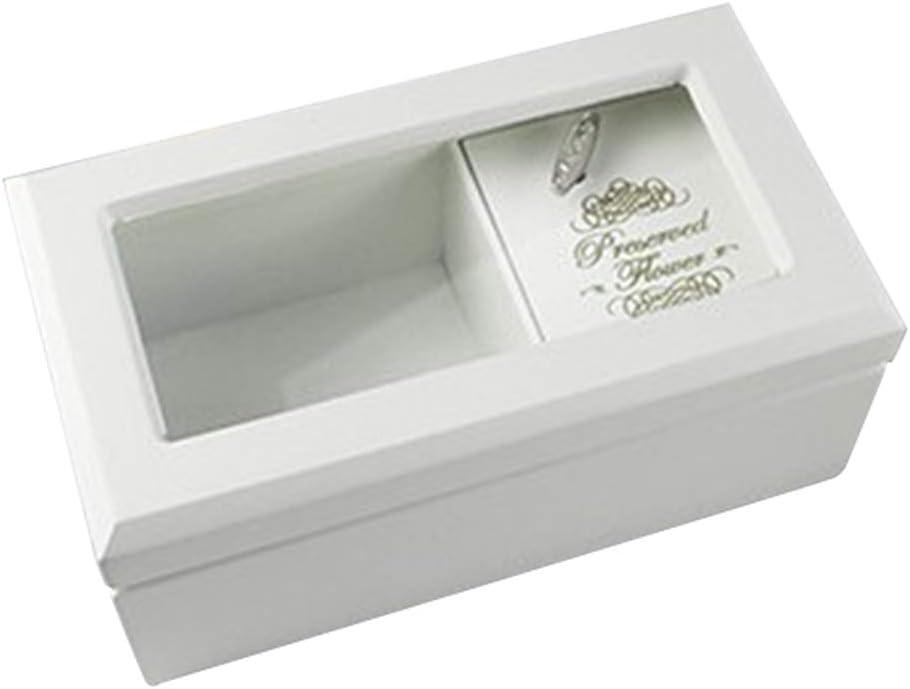 IPOTCH Organizador De Caja De Joyería De Madera Dulce, Soporte De Almacenamiento De Joyas con Tapa Transparente - Caja De Caja Musical - Los Mejores Regalos - Blanco, Individual: Amazon.es: Hogar