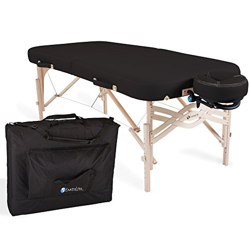 "EARTHLITE Premium Portable Massage Table Package SPIRIT – Spa-Level Comfort, Deluxe Cushioning incl. Flex-Rest Face Cradle & Strata Face Pillow, Carry Case (30/32"" x 73"") – Made in USA"