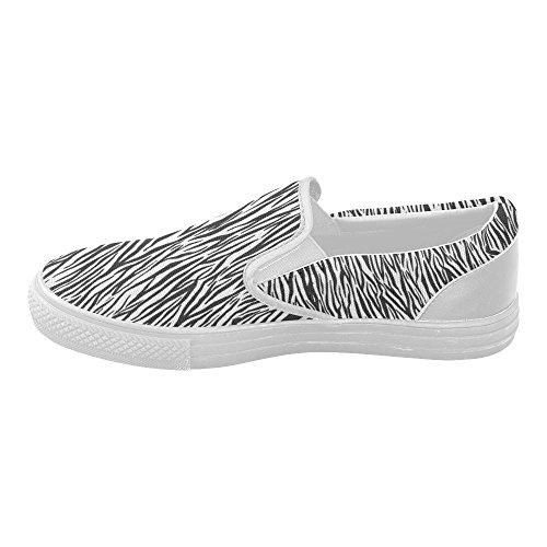D-story Op Maat Gemaakte Canvas-schoenen Met Zebra-strepen Voor Dames (model 019)