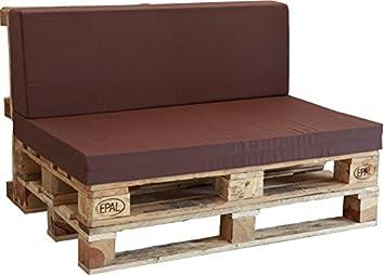 Asiento de Espuma enfundado en marrón para Sofá Palet