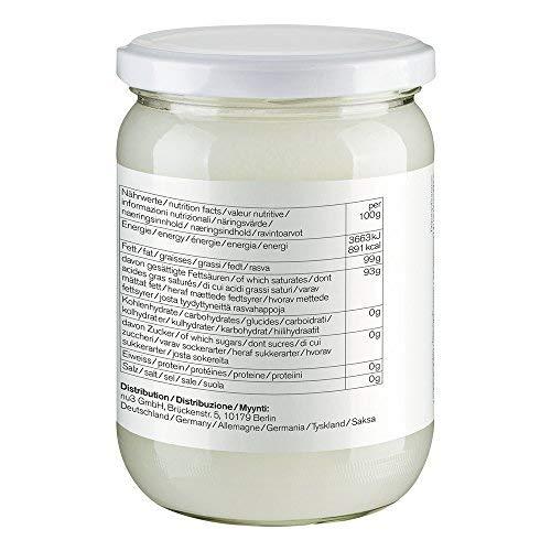 nu3 Aceite de coco orgánico | 500ml | Calidad ecológica | Pulpa de coco prensado en frío | Perfecto para cocinar y como sustituto vegano de mantequilla ...