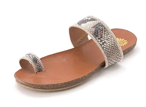 Yellow Box - Sandalias de vestir para mujer Natural