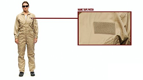TRU-SPEC 2662007 27-P Basic Flight Suit, XX-Large Regular, Khaki
