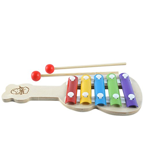 Yingealy Educational Toy Wooden Multi-Function Violin Sound Knocking Piano Baby Hit Educational Toys (Colorful)