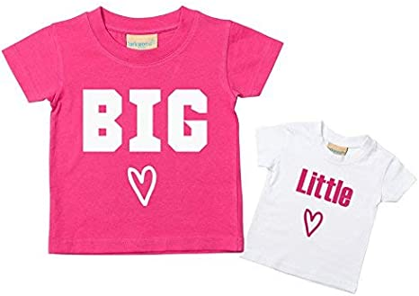 Big Sister Little hermana Corazón camiseta disponible en tamaños ...