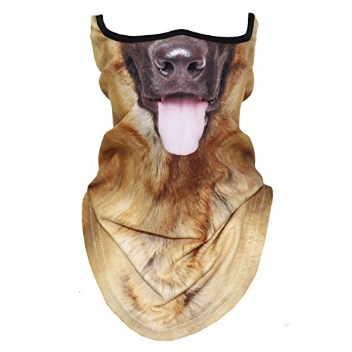 3D Animal Neck Gaiter Warmer Dog Face Mask for Skiing Cycling Motorcycling Halloween Party(21) ()