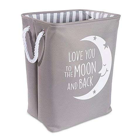 Taylor Madison Designs Love You To the Moon Hamper in Grey White