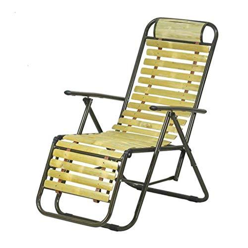 - YLCJ Folding Chair Garden Beach Folding Chairs Gravity Zero Deckchair Relaxing Bamboo Armchair