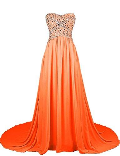 Ball Kleider Beaded Orange Chiffon 2016 Damen Fanciest Abendkleider Mint Strapless Formelle Kleider qznx7wt6