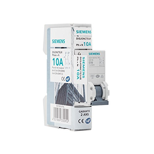 Siemens - Disjoncteur é lectrique phase + neutre 10A