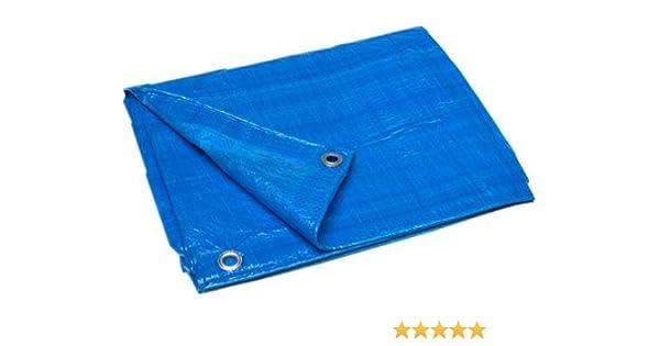 8 Feet x 12 Feet Woven Polyethylene Waterproof Lightweight Blue Multipurpose Poly Tarp