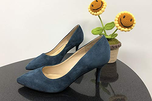 Zapatos Light Alto zapatos Femeninos Negros Femeninos Vibrato De Salvajes Profesionales Tacón Temperamento Elegante alto con Puntiagudo Yukun Solos Finos tacón Zapatos de Blue Sp18nq8Fzw