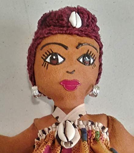 Black Doll Maker Multicultural Doll African American Doll Hand Painted African Inspired 11 inch Doll Collectible Doll Natural Hair Styles Black Doll Ethnic Doll Handcrafted