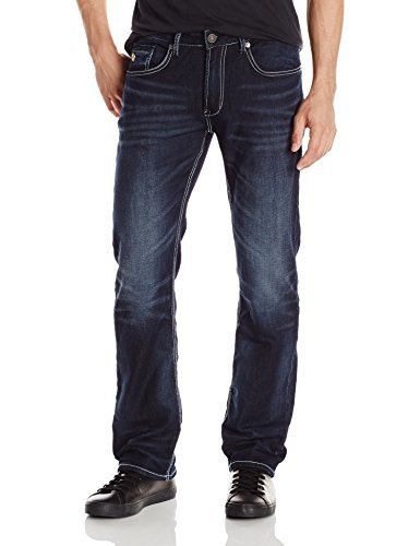 Buffalo David Bitton Men's Six Slim Straight Jean, Wrinkled/Blasted, 31X32 ()