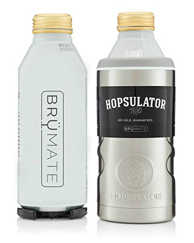 BrüMate HOPSULATOR TRíO 3-in-1 Insulated Can Cooler 16oz 12oz Pint Glass (16oz Aluminum Bottle Adapter Only)