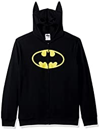 BATMAN Mens Character Zip Front Hoodie Hooded Sweatshirt