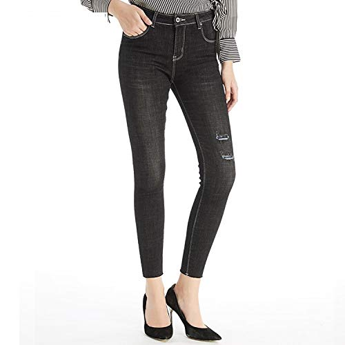 MVGUIHZPO Passform Taille Jeans XS Hohe Jeans Warme Winterjeans Femme L elastische cher r8trwqY