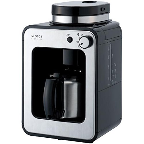 Aucsale fully automatic coffee maker siroca crossline stainless server STC-501BK Black by AucSale