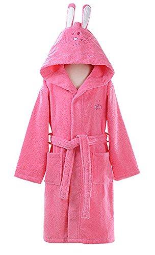 Cartoon Rabbit Ear Bathrobe Nightgown Pajamas Hotel Spa Dress Towel Plush Soft Cotton Kimono Sleepwear