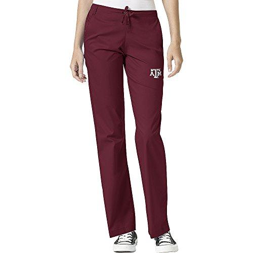 (WonderWink Women's Texas A&M University Flare Leg Pant, Maroon, Large)