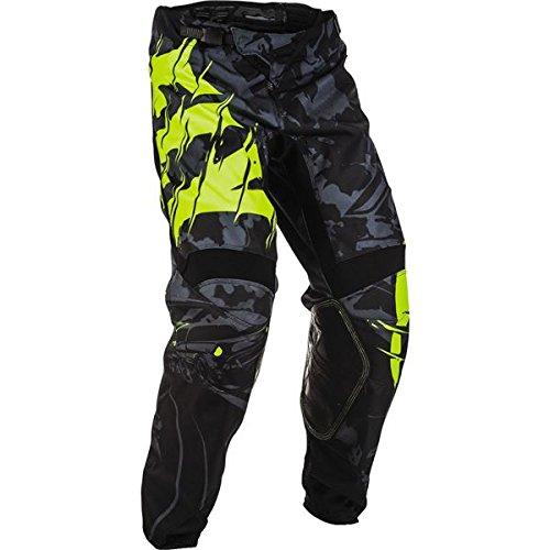 Fly Kinetic Mesh Pants (Fly Racing Men's Kinetic Outlaw Pants (Black/Hi-Vis, Size 36))