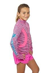 Lizatards Space Dye GYMNAST Jacket in Pink Blue Girls M (10)