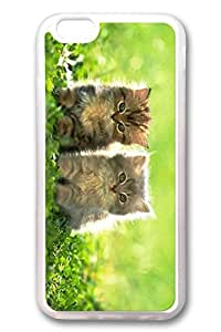 iPhone 6 Cases, Personalized Protective Case for New iPhone 6 Soft TPU Clear Edge Two Cat by Maris's Diary