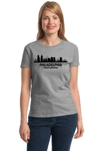 PHILADELPHIA, PA CITY SKYLINE Ladies' T-shirt / Brotherly Love, Philly Tee