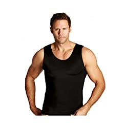 The Insta Slim Muscle Tank Shirt is the ideal shapewear garment and a must-have for the man who always looks his very best. Made of a blend of 72% Nylon and 28% Spandex, this black tank slims, firms, and tones your body while improving your p...