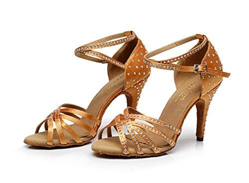 Sexy Alto De heeled10cm Our34 Zapatos Mujer De De Salón Tango Baile EU33 UK3 De Salsa De Zapatos Para Latino Tacón Baile Zapatos Gold JSHOE wqUXtRq