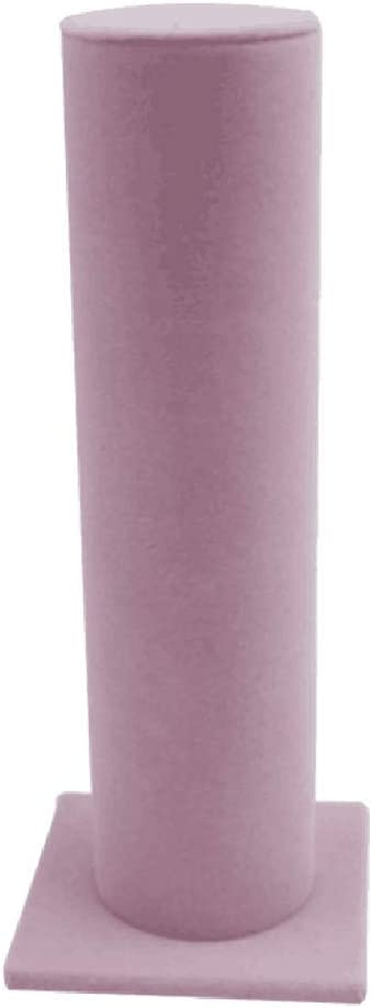 FRECI Velvet Vertical Tower Jewelry Bracelet Display Stand Bangle T-Bar Display Holder Rack Closet Organizer Tower Scrunchie Hair Band Holder – Pink