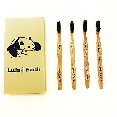 Cepillo de dientes de bambú orgánico con cerdas de carbón ...
