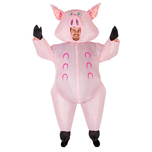 [Bodysocks - Inflatable Ride Me Adult Carry On Animal Fancy Dress Costume (Pig)] (Adult Costumes)