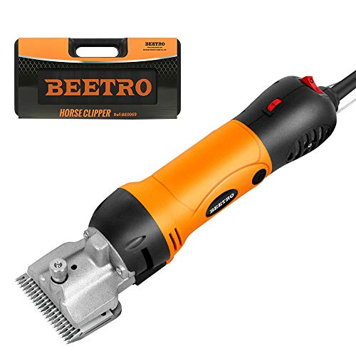 BEETRO Horse Clipper Electric Animal Grooming Kit for Horse Equine Goat Pony Cattle and Large Thick Coat Dogs,500W Professional Animal Scissors