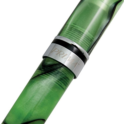 Monteverde Prima Fountain Pen Green Swirl Fine Nib (MV26889F) Photo #4