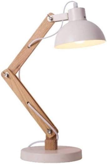 Lámpara de escritorio creativa hecha a mano de madera con forma de ...