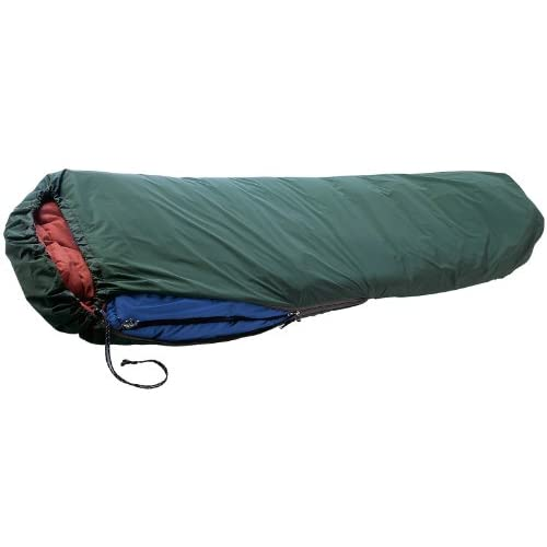Wilsa Sursac avec capuche (SUR O), forme momie, protection contre l'humidité, le vent et le froid, imperméable, léger, compact, coutures étanches, kaki, idéal pour les nuits en bivouac