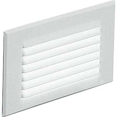 Progress Lighting P6821-30 Spring-Held Louver Faceplate Metal Housing, White