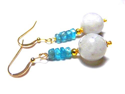 Moonstone Apatite Vermeil Earrings