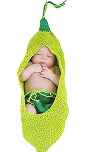 [Halloween Baby Infant Toddler Cute Pea Costumes Sleeping Bags 0-3 month] (Pea Costumes)