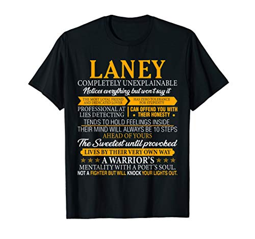 (LANEY Completely Unexplainable Shirt First Name Tee)